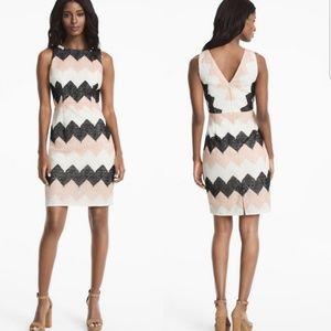 White House Black Market Chevron Dress